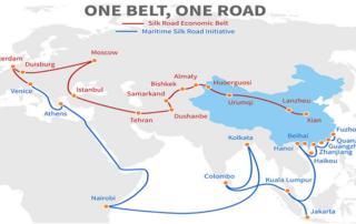 china one belt one road map